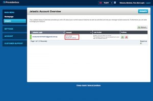 """Auto-Refill is now activated for your Jelastic account. To check your settings, click """"Auto-Refill active""""."""