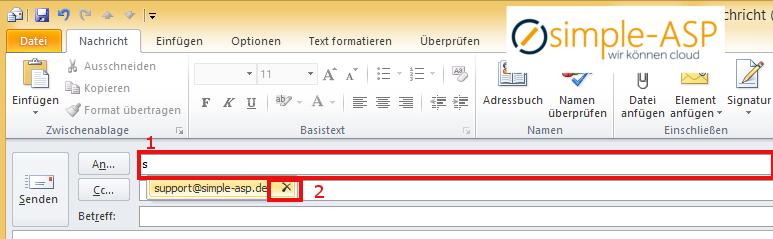 So löschen Sie eine Email Adresse in Outlook 2010
