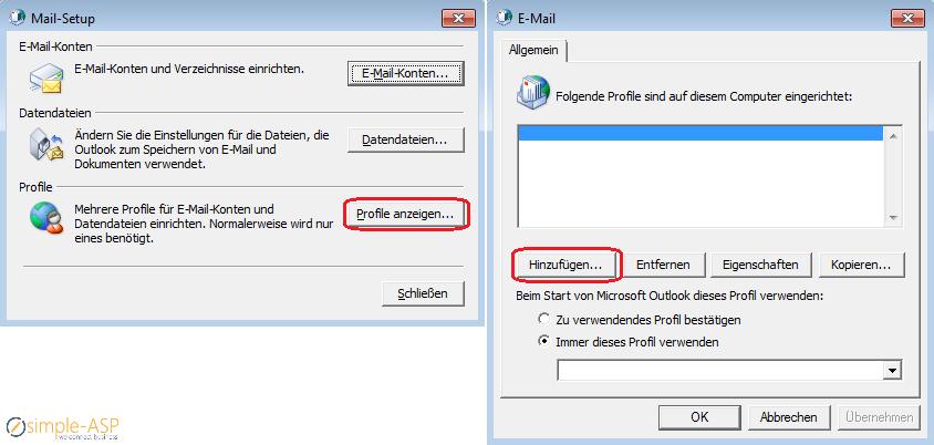 Hosted Exchange - Automatische Einrichtung in Outlook 2013