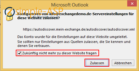 Autodiscover-Datei konfigurieren