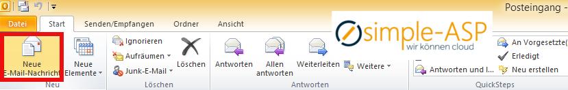 eine spezielle E-Mail-Adresse in Outlook 2010 löschen