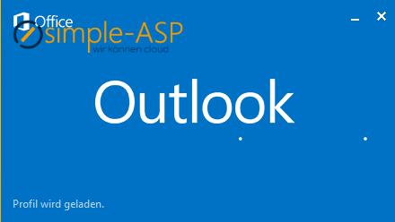 Outlook Profil wird geladen