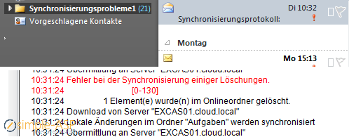 Synchronisationsfehler in Outlook 2010